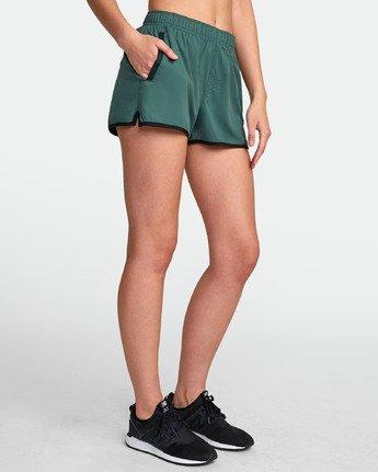 3 Womens Yogger Stretch Short Green T202TRYS RVCA
