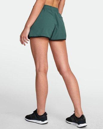 5 Womens Yogger Stretch Short Green T202TRYS RVCA