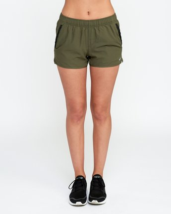 1 Womens Yogger Short Green T253QRYO RVCA
