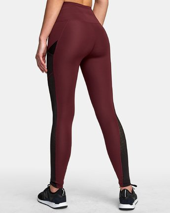 3 Atomic High Rise Legging Pink T302VRAT RVCA