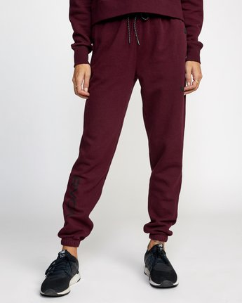 0 SPORT FLEECE SWEATPANT Red T3071RSS RVCA