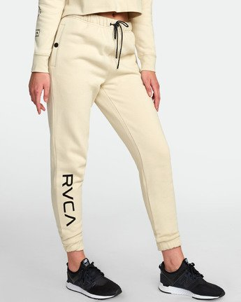 3 SPORT FLEECE SWEATPANT White T3071RSS RVCA