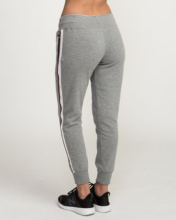 3 VA Guard Fleece Jogger Pants Grey T354QRGU RVCA