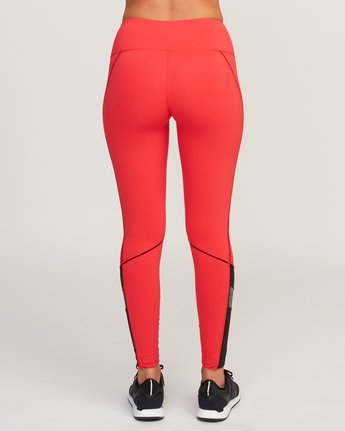 4 VA Legging Red T372QRLV RVCA