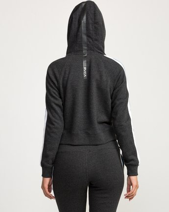 2 VA Guard Fleece Hoodie Black T601QRGH RVCA
