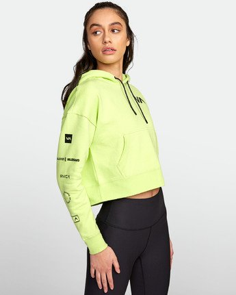 2 SPORT HOODIE Yellow T6031RCH RVCA