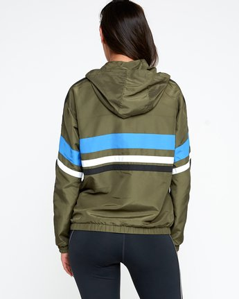 3 VA Team Jacket Green T701QRTE RVCA