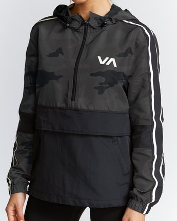 2 Sport Anorak Jacket Brown T702VRPA RVCA