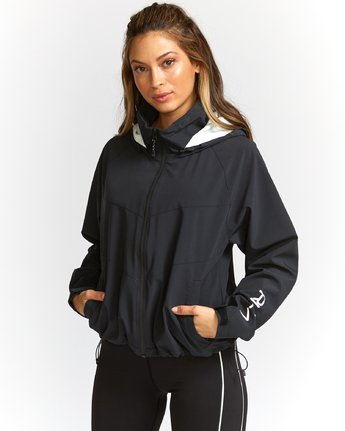 1 VA Windbreaker Jacket Black T703TRWW RVCA