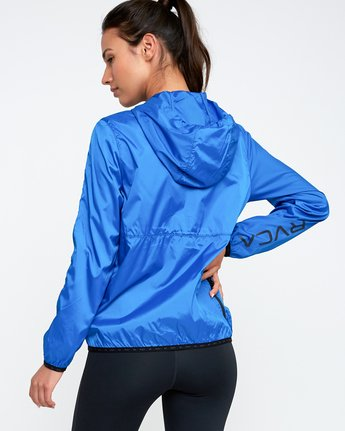 2 Hex Packable Windbreaker Jacket Blue T704TRHE RVCA
