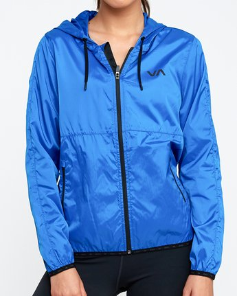 3 Hex Packable Windbreaker Jacket Blue T704TRHE RVCA