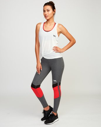 4 Warp Knot Performance Tank Top White T901URWA RVCA