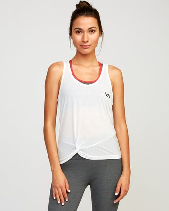0 Warp Knot Performance Tank Top White T901URWA RVCA