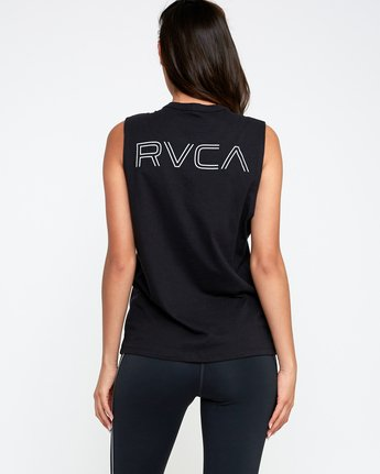 3 Train Sleeveless Sport Tank Top  T902TRVT RVCA