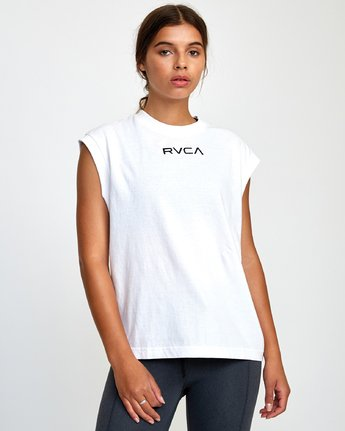 0 GRAPHIC MUSCLE TEE White T9032RGM RVCA