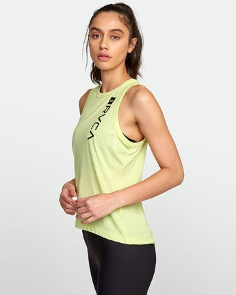 2 VA MUSCLE TANk TOP Yellow T903WRVM RVCA