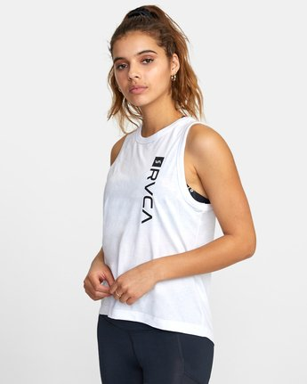 3 VA MUSCLE TANK TOP White T903WRVM RVCA