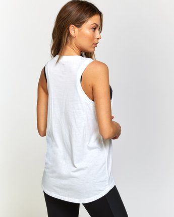 2 Dione Muscle Tank Top White T905VRRM RVCA