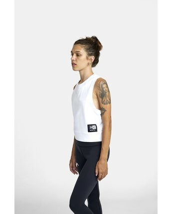 2 EVERLAST FLEECE WORKOUT TANK TOP White T9093RET RVCA