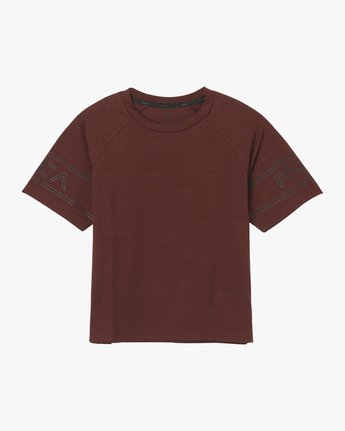 6 Freestyle Performance T-Shirt Red T975QRFR RVCA