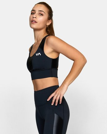 3 MATTE SHINE SPORTS BRA Black TQ011RMS RVCA