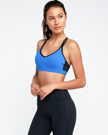1 Ignight Strappy Sports Bra Blue TQ01TRIS RVCA