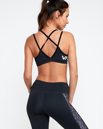 2 Ignight Strappy Sports Bra Grey TQ01TRIS RVCA
