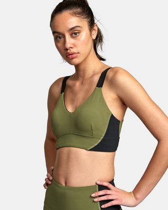 0 VA Ultra Sports Bra Green TQ01VRUB RVCA
