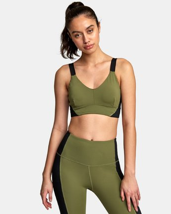 1 VA Ultra Sports Bra Green TQ01VRUB RVCA
