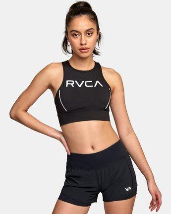 3 VA Longline Sports Bra Black TQ01WRLB RVCA