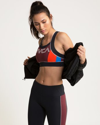 0 VA Lock Sports Bra Grey TQ02QRLO RVCA