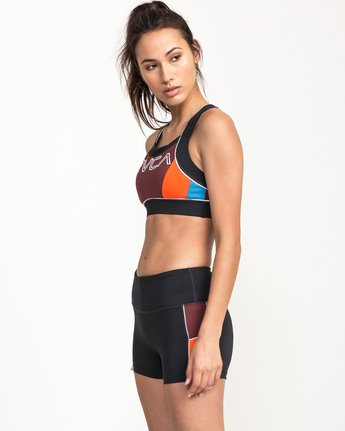 2 VA Lock Sports Bra Grey TQ02QRLO RVCA