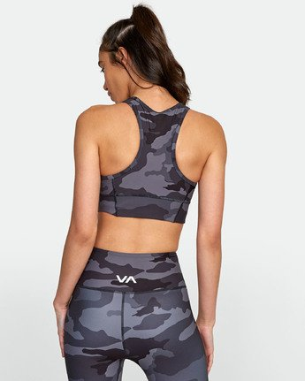 3 VA LONGLINE SPORTS BRA II Brown TQ031RLO RVCA
