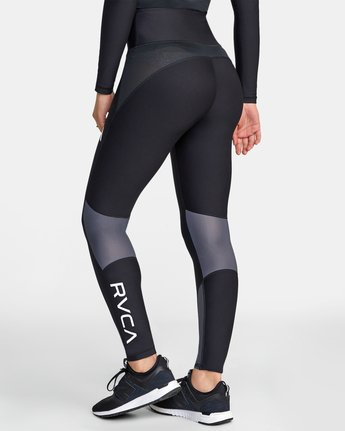 4 COMPRESSION LEGGING Black TQ041RCL RVCA