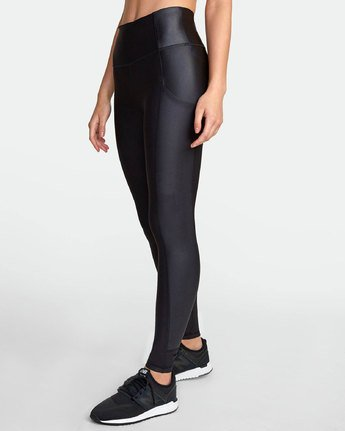 2 MATTE SHINE HIGH RISE LEGGING Black TQ051RMS RVCA