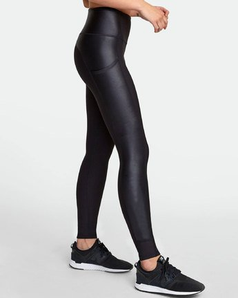 3 MATTE SHINE HIGH RISE LEGGING Black TQ051RMS RVCA