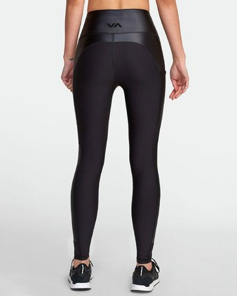 6 MATTE SHINE HIGH RISE LEGGING Black TQ051RMS RVCA