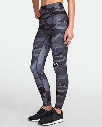 2 RVCA SPORT II HIGH RISE LEGGING Brown TQ071RRL RVCA