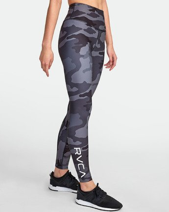 3 RVCA SPORT II HIGH RISE LEGGING Brown TQ071RRL RVCA