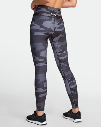 5 RVCA SPORT II HIGH RISE LEGGING Brown TQ071RRL RVCA