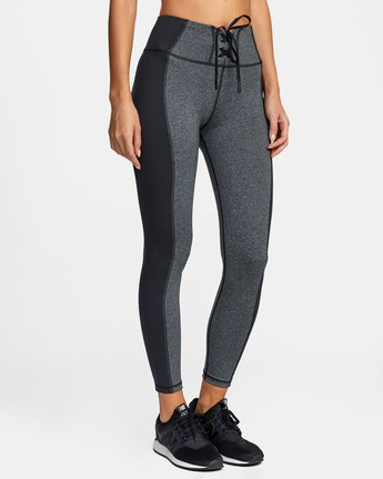 6 EVERLAST LACE UP SPORT LEGGING Grey TQ153REL RVCA