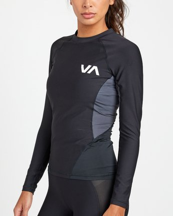 9 COMPRESSION LONG SLEEVE RASHGUARD Black TR011RCL RVCA
