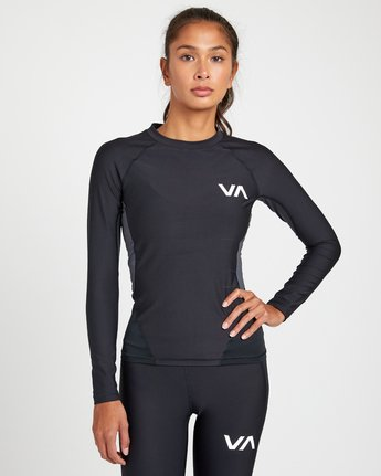 0 COMPRESSION LONG SLEEVE RASHGUARD Black TR011RCL RVCA