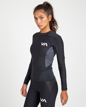 2 COMPRESSION LONG SLEEVE RASHGUARD Black TR011RCL RVCA