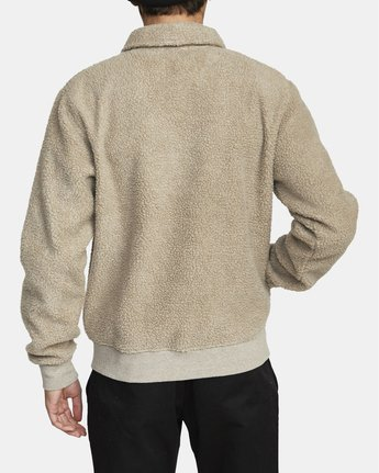 1 Erie Zip - Sherpa Jacket for Men Green U1FLVDRVF0 RVCA