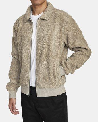 2 Erie Zip - Sherpa Jacket for Men Green U1FLVDRVF0 RVCA