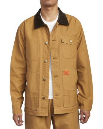8 Chainmail - Jacke mit Knopfleiste für Männer Gelb U1JKRBRVF0 RVCA