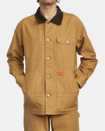 4 Chainmail - Jacke mit Knopfleiste für Männer Gelb U1JKRBRVF0 RVCA