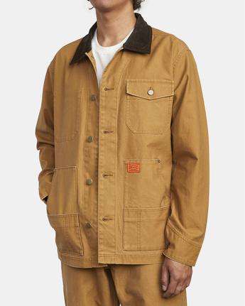 6 Chainmail - Jacke mit Knopfleiste für Männer Gelb U1JKRBRVF0 RVCA