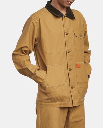 7 Chainmail - Jacke mit Knopfleiste für Männer Gelb U1JKRBRVF0 RVCA
